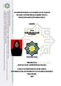 Analisis Pengelolaan Masjid Agung Madani Islamic Center Sebagai