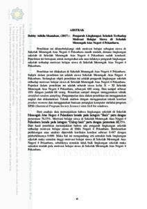 Pengaruh Lingkungan Sekolah Terhadap Motivasi Belajar Siswa Di Sekolah Menengah Atas Negeri 4 Pekanbaru Universitas Islam Negeri Sultan Syarif Kasim Riau Repository