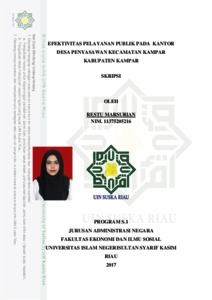 Efektivitas Pelayanan Publik Pada Kantor Desa Penyasawan Kecamatan Kampar Kabupaten Kampar Universitas Islam Negeri Sultan Syarif Kasim Riau Repository