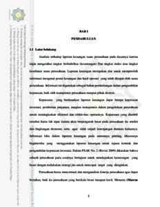 Analisis Laporan Keuangan Untuk Menilai Kinerja Keuangan Perusahaan