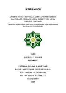 Analisis Sistem Informasi Akuntansi Penerimaan Kas Pada Pt Asuransi Umum Bumiputera Muda Cabang Pekanbaru Universitas Islam Negeri Sultan Syarif Kasim Riau Repository
