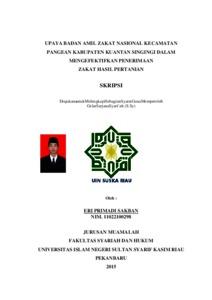 Upaya Badan Amil Zakat Nasional Kecamatan Pangean Kabupaten