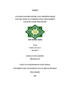 Contoh Skripsi Uin Suska Riau