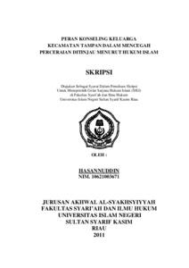 Pdf Skripsi Hukum Keluarga Islam
