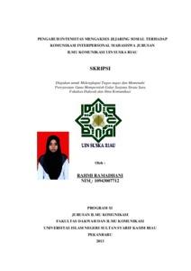 Skripsi Ilmu Komunikasi Uin Suska Riau Pejuang Skripsi