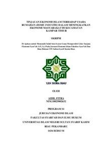 Tinjauan Ekonomi Islam Terhadap Usaha Rumahan Home Industri