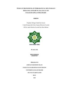 Tinjauan Ekonomi Islam Terhadap Jual Beli Pakaian Bekas Dalam Karung Bal Balan Di Pasar Senapelan Pekanbaru Universitas Islam Negeri Sultan Syarif Kasim Riau Repository
